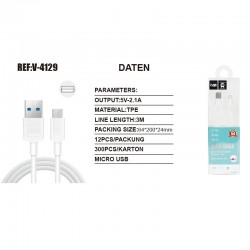 Micro USB 3Meter Ladekabel...